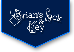 Brian's Lock and Key logo