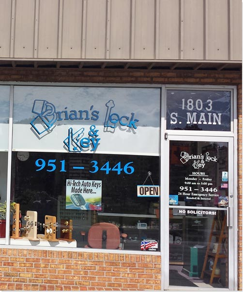 Brian's Lock and Key Storefront