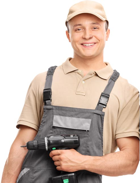 Smiling repair man